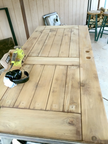 Stain side all sanded down